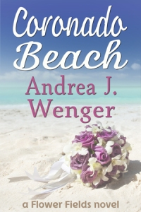 Cover of Coronado Beach, showing a bridal bouquet abandoned on an empty beach